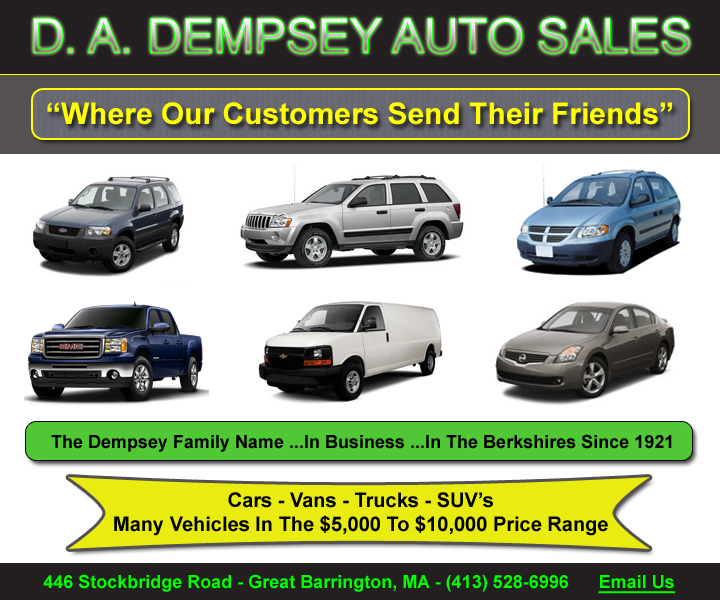Car Dealers In The Berkshires, Berkshire County Auto